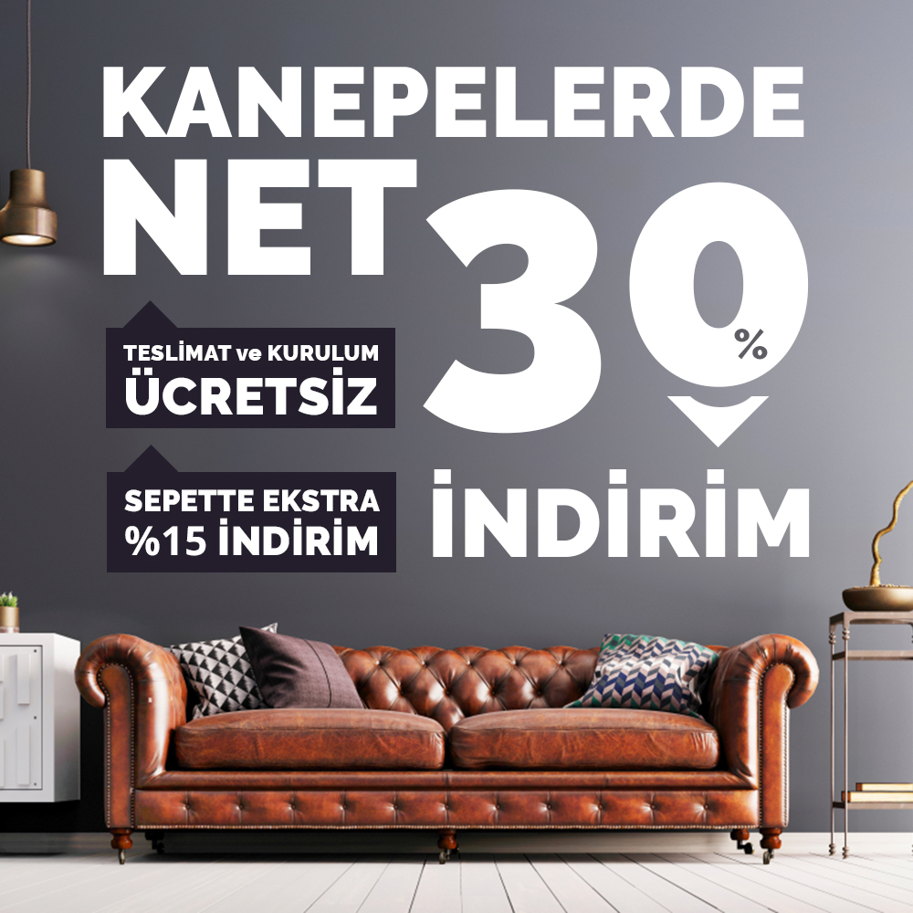 %30 sepette extra 15 kanepeler